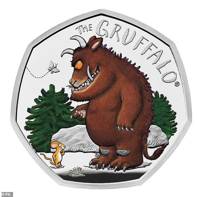 On October 17 Royal Mint also launched a Gruffalo coin (above) in order to show the beast first meeting the mouse