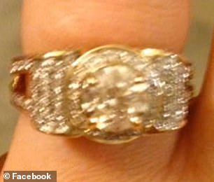 Dazzling: Social media users dragged the owner for the ring which they deemed 'Las Vegas tacky' and like 'tinfoil'