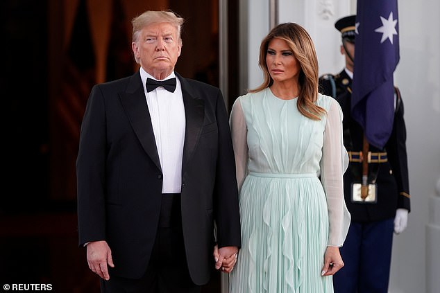 Trump said his own wife might not shed tears if he were injured