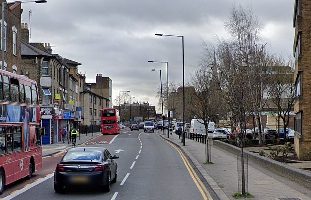A baby fell from flats in Tottenham High Road in north London shortly before 10am yesterday