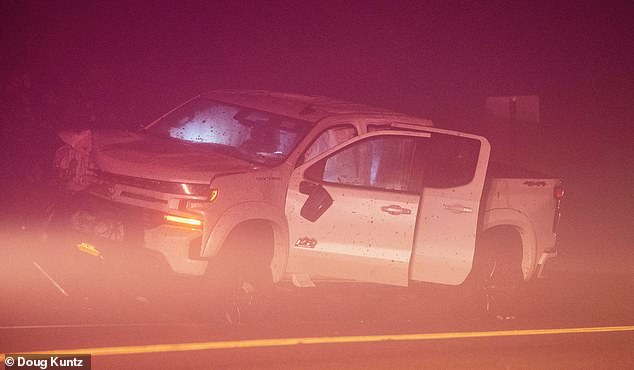 Rooney was driving her 2019 Chevrolet Silverado pickup truck through Montauk on the evening of October 30, 2019, when she struck John James Usma-Quintero, 28. The truck is seen crashed on the side of the road that night