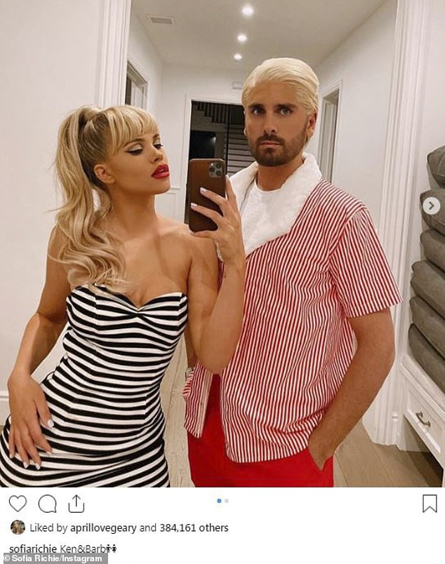 Wow!Sofia Richie and Scott Disick celebrated their first Halloween dressing up as a couple as they dressed up as vintage Barbie and Ken