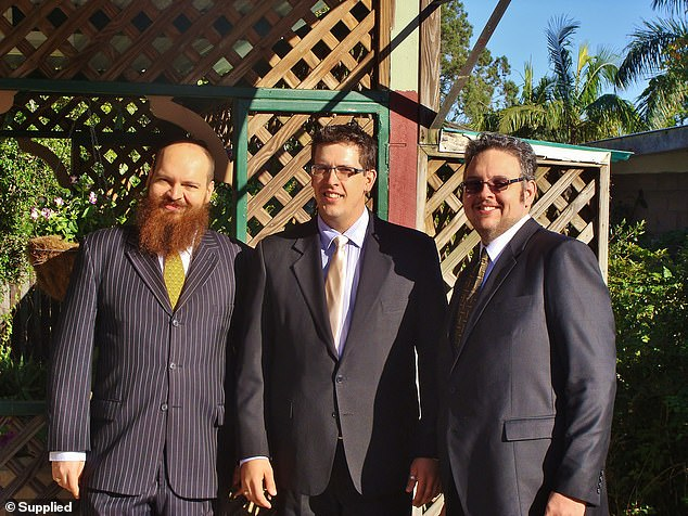 He (centre) was the youngest of three boys, after older brother Bryce, 37 (left) (pictured with Dean right)