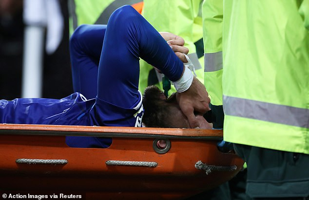 Gomes, 26, who signed permanently for Everton this summer for £22million after a loan spell last year, was stretchered off to a standing ovation