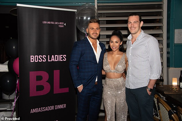 Just friends:Entrepreneur Nicole first crossed paths with Eden at an event for her handbag rental company, Boss Ladies, in Woolloomooloo, Sydney on October 5