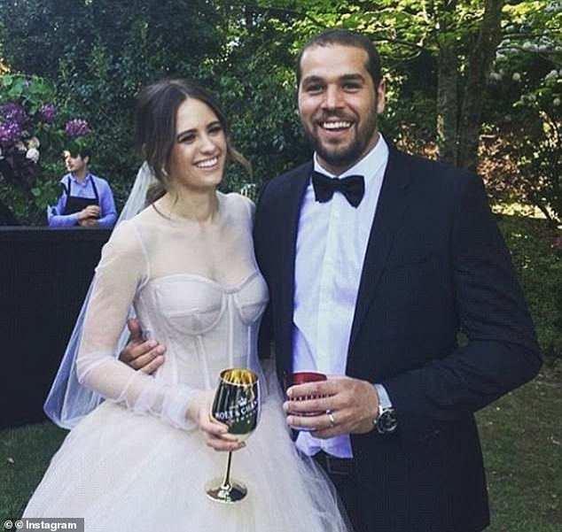 'There are no words to describe how lucky I am': Jesinta said she was surprised to discover Vera would be personally altering her gowns ahead of her special day