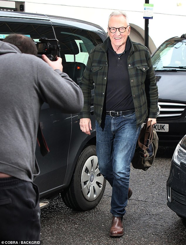 On the Lamb: Larry Lamb looked delighted to be in attendance ahead of the show's return