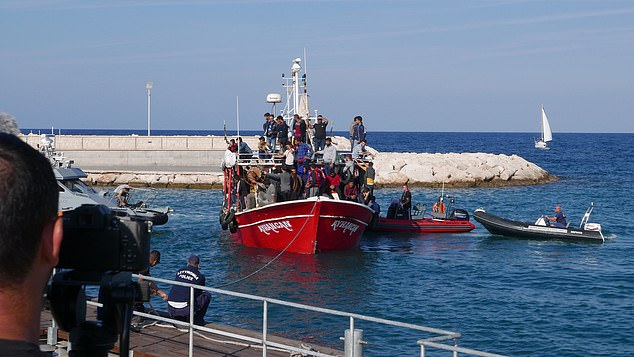 It is understood that most of the migrants - including women and children - were form Syria, however it is not known if they sailed via the Turkish mainland or northern Cyprus