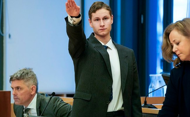 Norway Gunman Philip Manshaus Gives A Nazi Salute In Court