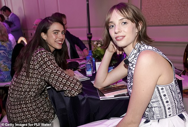 Co-stars: She was seated at the event next to Hawke, with whom she starred as a Manson girl in Once Upon a Time In Hollywood