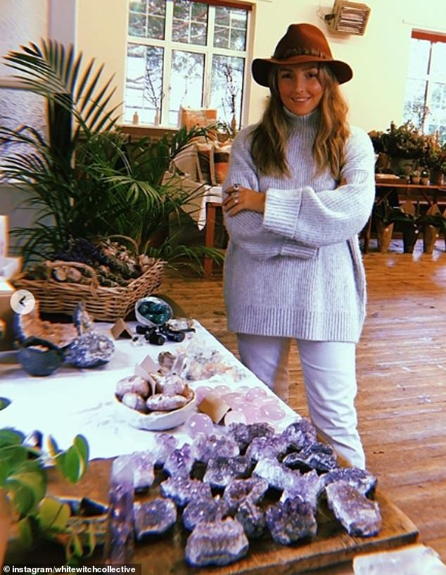Not your typical witch! Meanwhile another woman, from Bristol, claims to offer 'witchy guidance for the modern bohemian' and says she loves her job as afine crystal dealer, rock purveyor, white witch in the city