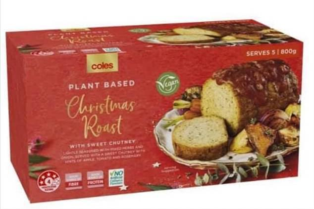 Coles Australia is launching a vegan Christmas roast with all the trimmings this year (pictured)