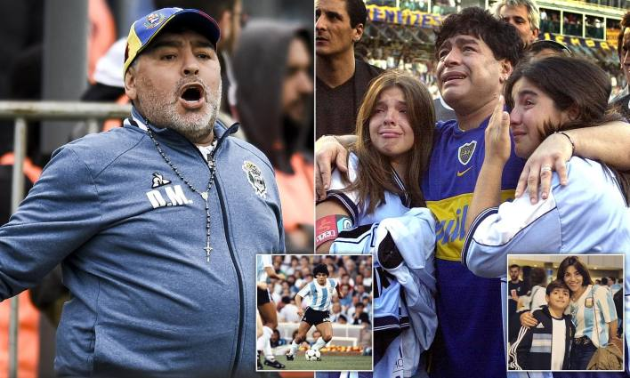 Diego Maradona's daughter raises concerns about her father's health | Daily Mail Online