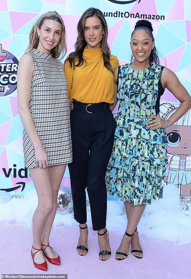 Mom's unite!The 34-year-old appeared in high spirits for the event that Alessandra Ambrosio and Tia Mowry was also at with their children