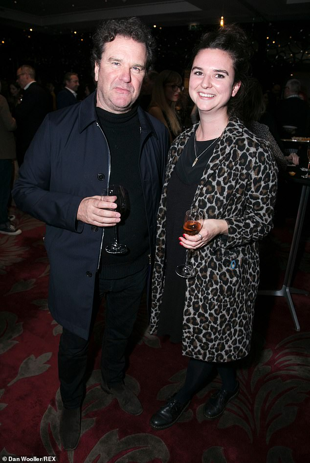 Family: Actor Douglas Hodge attended the party with his daughter Mollie