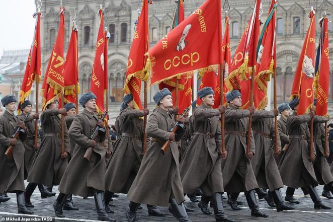 The event is to mark the anniversary of the November 7, 1941 parade which was when Soviet soldiers marched through the Red Square to the front lines of World War Two