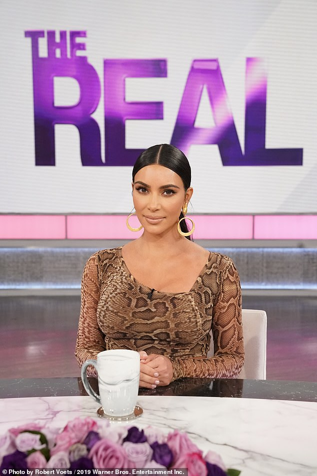 Interesting:Kim Kardashian appeared on The Talk on Tuesday as she revealed that she and her 42-year-old husband have had 'fights' over his religious journey