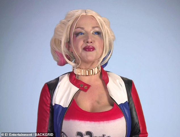 Going all out: Gia dressed as Harley Quinn for her consultation with the doctors