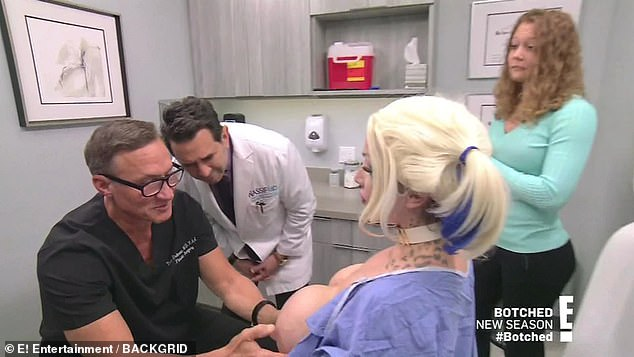 Issue: In the examining room, Dr. Dubrow immediately noticed that her left breast is not only droopier, but it is also much larger than the other