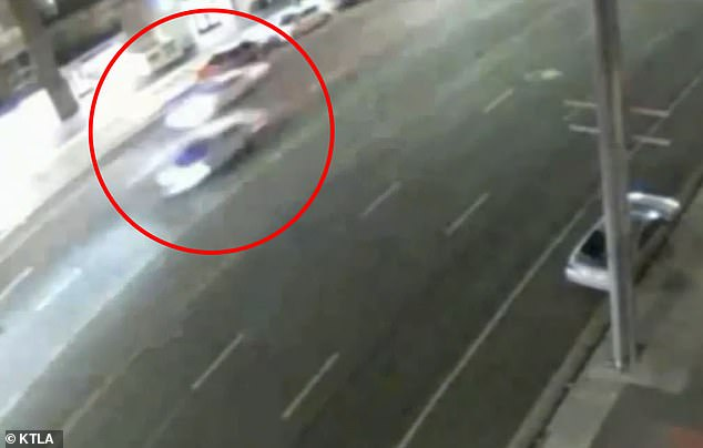 He was fatally struck by the second of two white cars who were speeding down the road