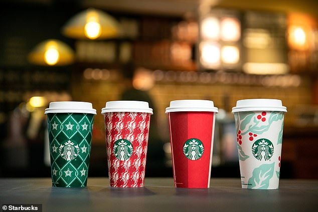 Festive: Last year's cup designs were slightly more traditional