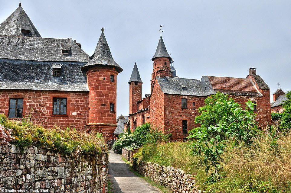 The village of Collonges-la-Rouge is a striking one, thanks to its red sandstone buildings. It sits on the border between Limousin and Quercy and centres around an 8th-century Benedictine priory
