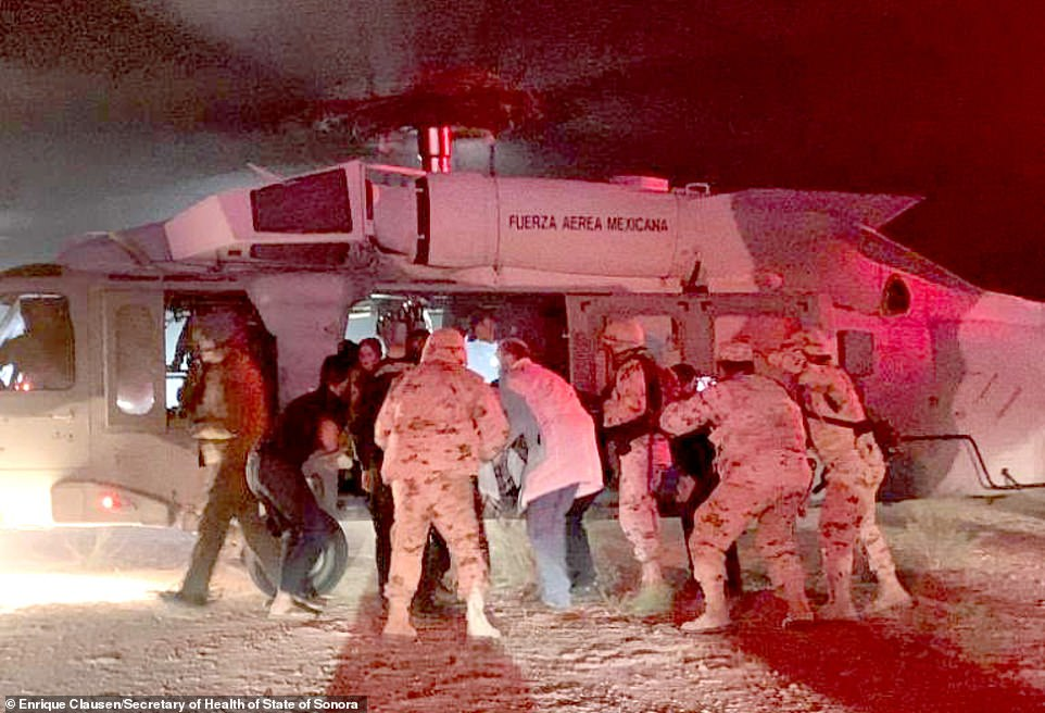 The five children who were injured when Mexican drug cartel gunmen ambushed them and massacred nine of their Mormon family members were airlifted to hospitals in the U.S. following the grisly attack