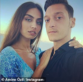 Mesut Ozil and his wife Amine in a recent social media posting. The football star was unharmed in the attack