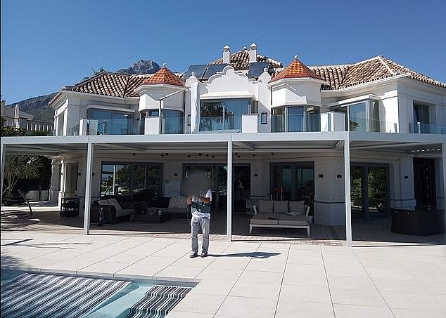 Police raided this luxury property in Spain at the same time as officers around Europe moved in