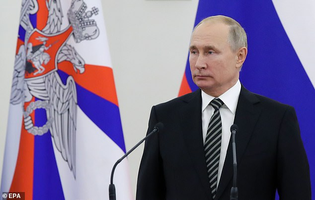 Russian President Vladimir Putin (pictured on Wednesday) has asserted that Russia will continue to expand its weapons development as he boasts his country has hypersonic and laser weapons that no other nation has