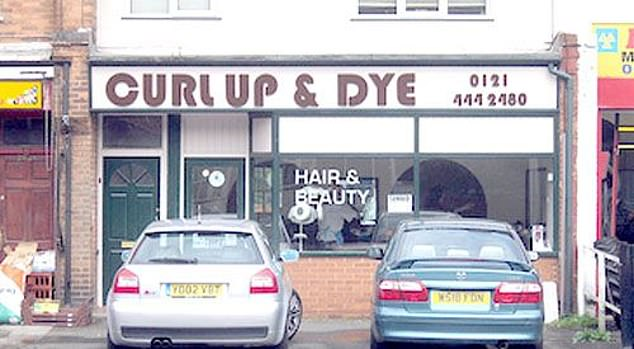 Curl up and dye? One hairdressers, believed to be in the UK, promised top notch hair and beauty