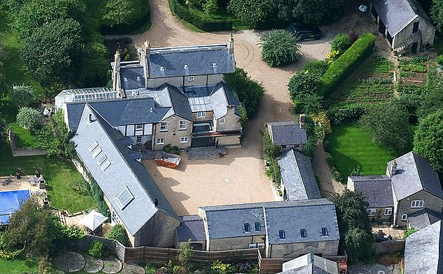 An aerial photo shows former Top Gear host Jeremy Clarkson's sprawling home in Chipping Norton