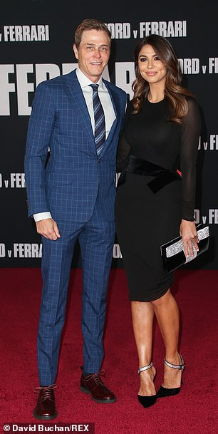 The pair are seen at Ford v Ferrari film premiere at TCL Chinese Theatre Monday