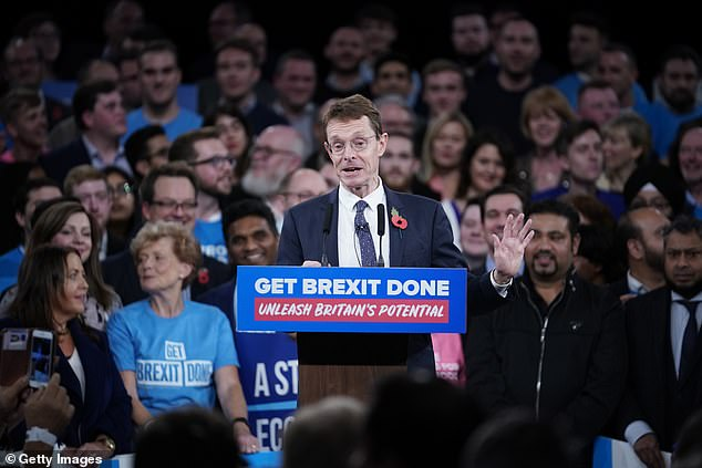 Andy Street, the mayor of the West Midlands, and Home Secretary Priti Patel acted as Mr Johnson's warm up act in Birmingham tonight