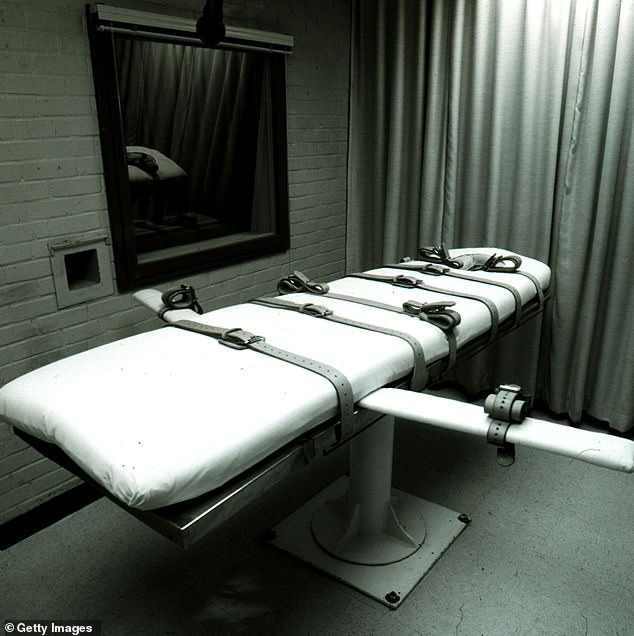 A execution bed at Texas Death Row in Huntsville, Texas. Bobby Moore had been on death row for 39 years until state appeals court struck his death sentence for being too 'intellectually disabled'