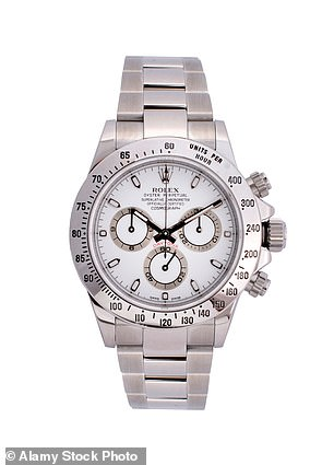 A fine watch: The Daytona Rolex is rare and costs more than most