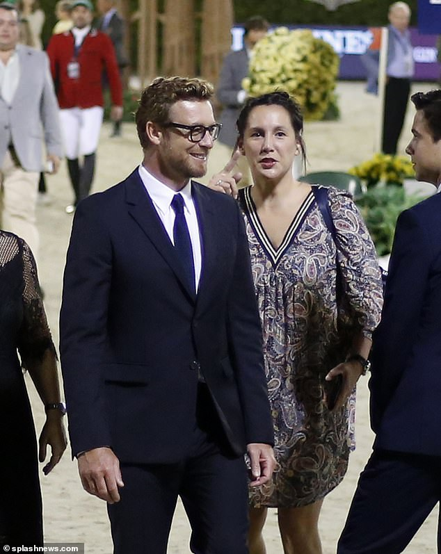 Romantic trip: The couple recently travelled to Europe where Simonparticipated as ambassador for the elegance of the Longines watch brand, at the final of the cup the Longines Challenge Cup in Barcelona