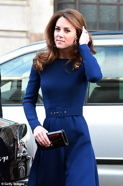 Kate arrives for the engagement in London today