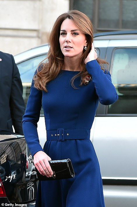 The Duchess of Cambridge arrives for the launch of the National Emergencies Trust at St Martin-in-the-Fields in London today