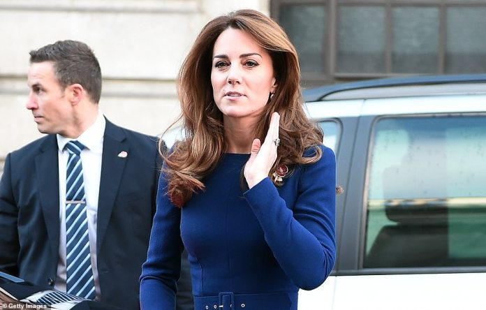Kate arrives this morning for the launch of the new charity which has been set up after several terror attacks since 2017