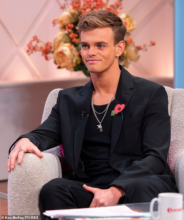 Candid: In November, dancer Regan spoke openly about his sexuality in a newspaper interview, followed by an appearance on Lorraine Kelly's eponymous ITV show (pictured)