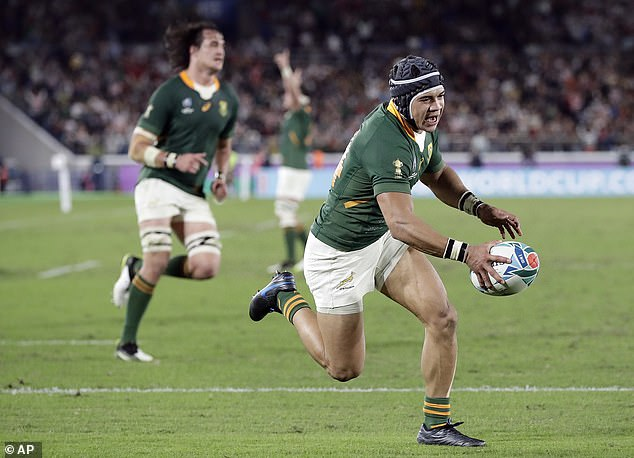 Cheslin Kolbe scores the second try for the Springboks to add gloss to their win over England