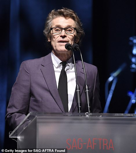 Willem Dafoe, 64, gave a speech