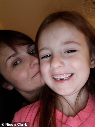 Mrs Clark said: 'It has broken my heart to feel so helpless and watch my child go through that and not be able to protect her'
