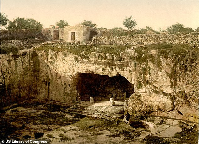 France, which has managed the site since the late 19th century, had closed off access as part of an extensive restoration costing $1.1 million (£0.9 million) in 2009. Pictured, the tomb site as it appeared near the end of the 19th Century