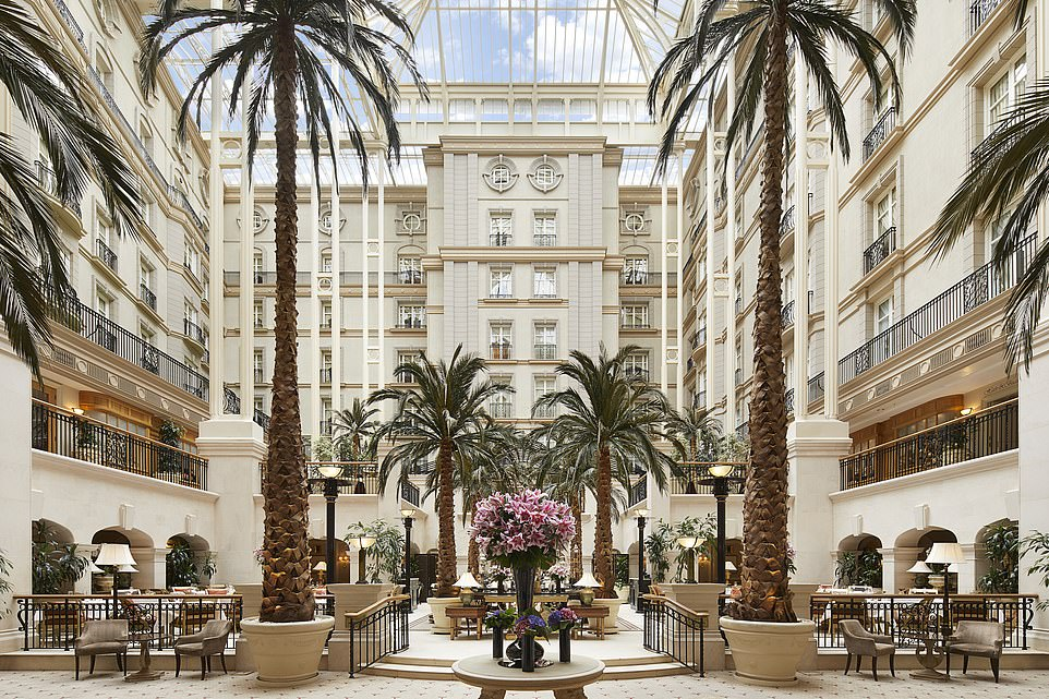 Oasis of luxury:The Landmark London with its iconic atrium featuring towering palm trees is one of the most Instagrammed hotels in the capital