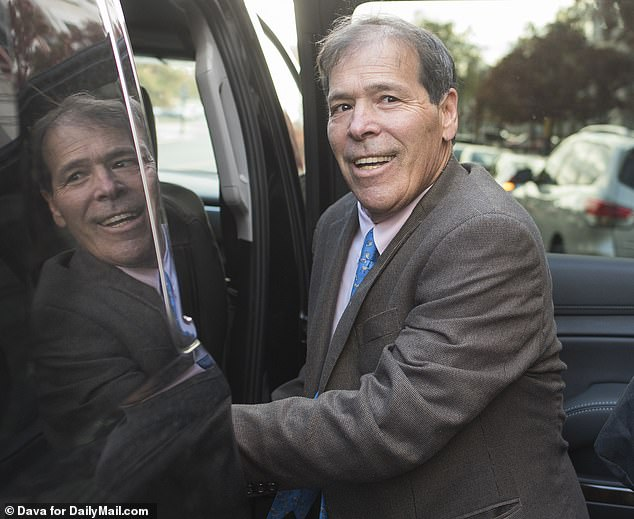 Randy Credico told the court Friday that Stone told him to plead the Fifth or do a 'Frank Pentangeli' - in reference to a character in Godfather Part II who lies to congress (pictured leaving court Friday )