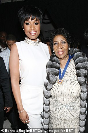 Jennifer Hudson pictured with Aretha Franklin in 2014