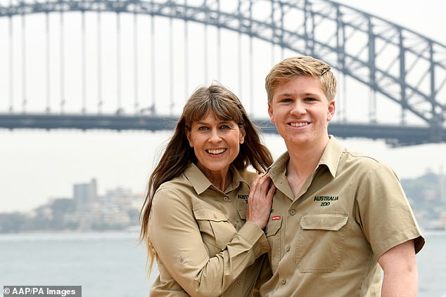 Aussie icons: His win comes after Robert was revealed as one of the faces of the new Tourism Australia campaign alongside his mum Terri (pictured left)