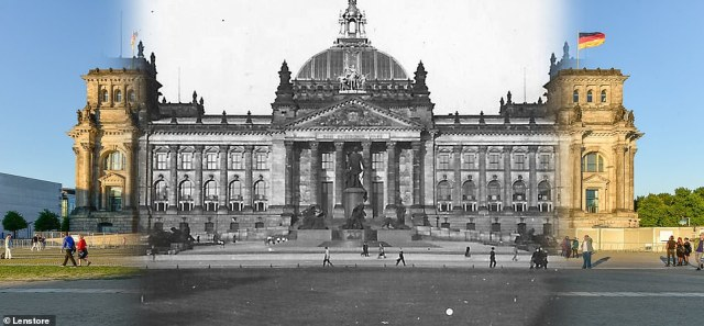 Politically, the far-right Alternative for Germany party (AfD) regularly scores above 20 per cent in the former communist territories, compared with a ceiling of around 15 per cent elsewhere in Germany. Pictured: The Bundestag,the German parliament